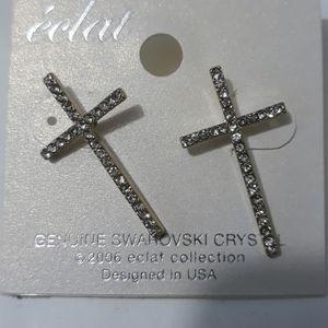 Genuine Gemstone Swarovski Crystals Earrings